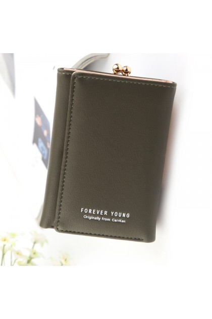 WLF076 Forever Young/Carr Ken Foldable Trendy Short Wallet