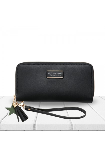 WA086 Forever Young Lady Zipper Long Wallet Purse