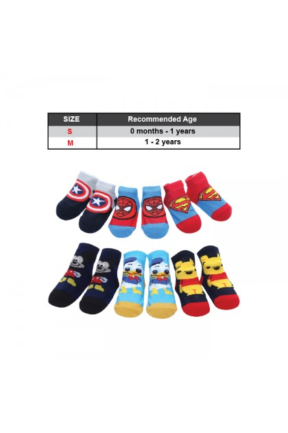 BB993 3 Pairs Set Of 0-2 Years Old Cotton Baby Socks