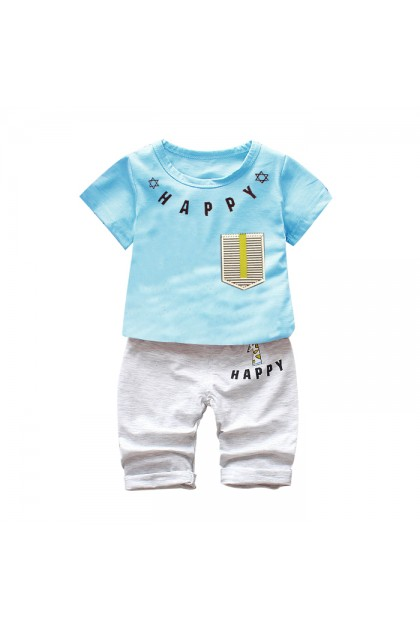 BB994 Baby Happy Cute Pocket Fashion Clothes Set