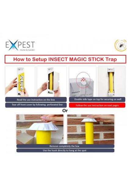 H0717I Expest Insect Small Flies Magic Stick Trap