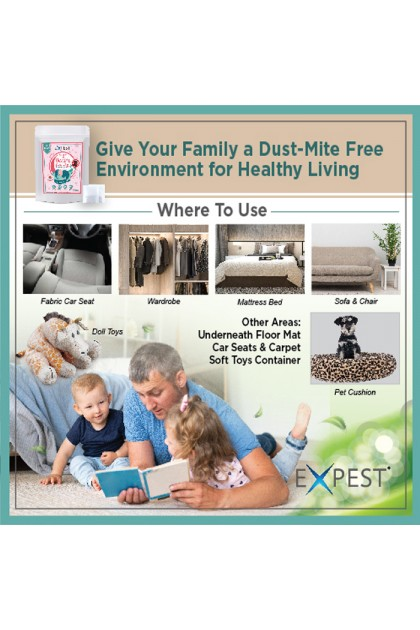 H0719D Dust Mite Removal Kit Natural Herbal x 6 Sachets (Dust Mite Killer)