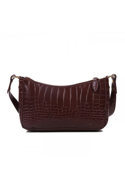 BG444 Elegant Crocodile Pattern Small Shoulder Handbag