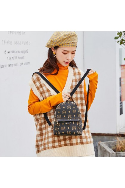 BG446 Women's Casual Printed Small Sling Backpack