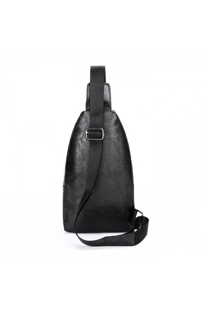 SK584 Men's Casual Leather Chest Crossbody Bag