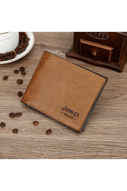 WL062 Jeep Buluo Men's Short Wallet