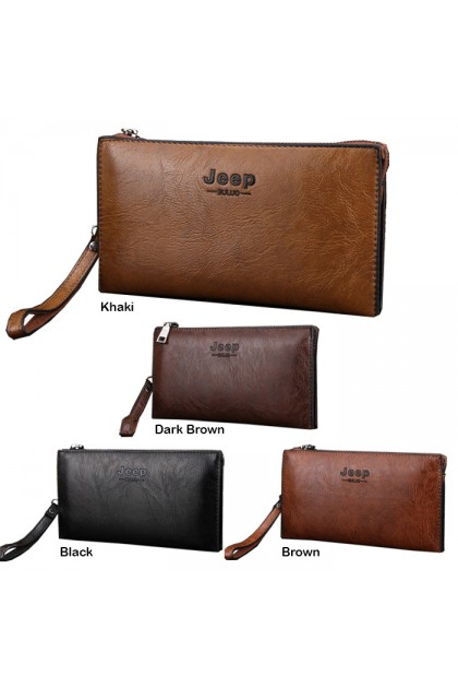 WL054 Jeep Buluo Men's Long Zip Wallet